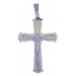 Pendente croce in argento Ref.10918