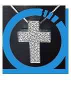 croci, simboli religiosi oro, argento, brillanti